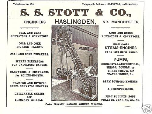 Advertisement for S.S. Stott & Co. Bryan Yorke, www.haslingdens.blogspot.co.uk
