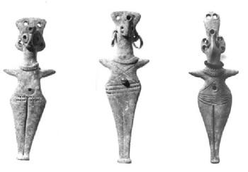 Syrian Bronze Age female figurines © Ashmolean Museum