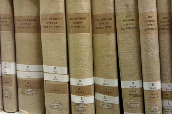 Swedish Cyprus Expedition reports in the Leeds University Library