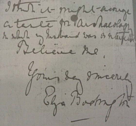 Letter from Eliza Bodington to Michael Sadler © University of Leeds