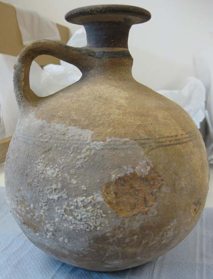 Jug with accretions © University of Leeds