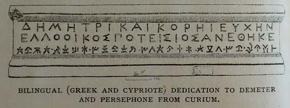 Bilingual inscription from Curium