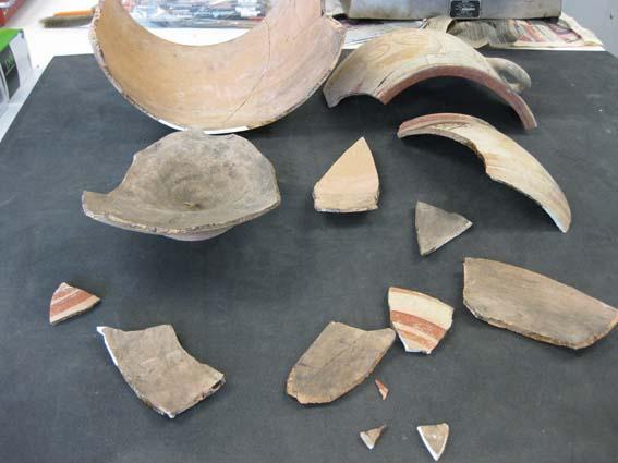 Klavdhia krater fragments s