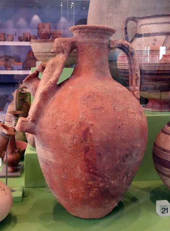 Side view of jug