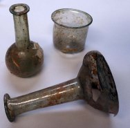 Glass bottles and cup © World Museum Liverpool